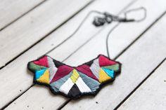Ketten lang - Tribal -handgestickt - ein Designerstück von Bunty-Bunt bei DaWanda