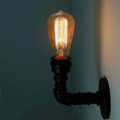 Find More Wall Lamps Information about Loft Vintage Nostalgic Industrail Lustre Water Pipe Edison Wall Sconce Lamp Resturant Hotel Bar Stair Home Decor Modern Lighting,High Quality decorative fluorescent kitchen lighting,China lighted valentine decorations Suppliers, Cheap lighted party decorations from YH Lighting Manufacturer on Aliexpress.com
