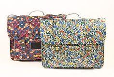 Liberty print floral satchels
