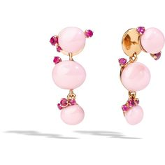 Pomellato Earrings Capri (3 930 AUD) ❤ liked on Polyvore featuring jewelry, earrings, pink, earring jewelry, pomellato earrings, pink earrings, pomellato jewelry and pink jewelry