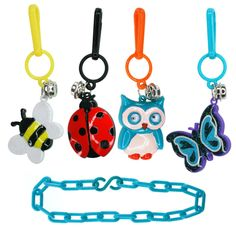 Flash Charms cute Friends Kit. It's an '80s flashback! Relive one of the hottest trends of the '80s with this whimsical collection of iconic memorabilia charms. It's easy to create a unique nature-themed bracelet that tells your story – just clip the colorful bee, butterfly, ladybug and owl charms on to the bracelet and, within a flash, you're done.