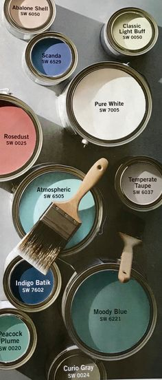 Pottery Barn & Sherwin Williams Spring / Summer 2018 Paint Color Palette #trends #paintcolor