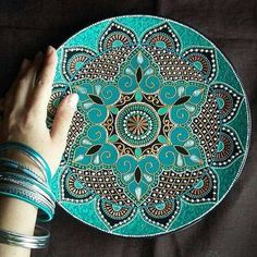 Amazing Mandala Plate By BaAlina click now for info. Mandala Art, Mandala Painting, Dot Painting, Mandala Design, Pottery Painting, Ceramic Painting, Stone Painting, Ceramic Art, Keramik Design