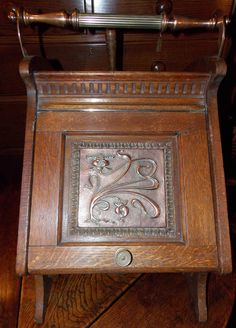 Other Nice Victorian Solid Oak And Brass Coal Purdonium Factories And Mines