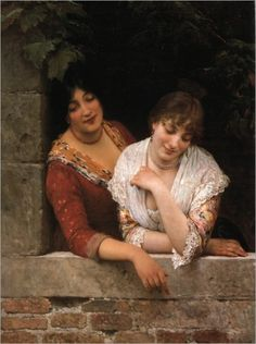 Unknown Title - Eugene De Blaas (Italian, 1843-1932)