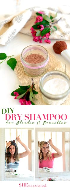 DIY Dry Shampoo for Blondes and Brunettes // sheuncovered.com