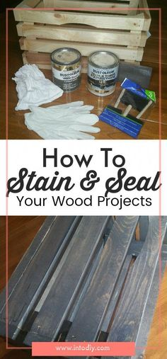 Unsure how to stain and seal your wood projects? Check out this process on how t - Sell Your House Fast - Ideas of Sell Your House Fast - Unsure how to stain and seal your wood projects? Check out this process on how to stain and seal your wood projects. Learn Woodworking, Easy Woodworking Projects, Popular Woodworking, Woodworking Furniture, Woodworking Plans, Woodworking Joints, Custom Woodworking, Woodworking Inspiration, Furniture Plans