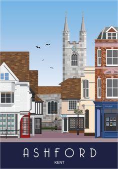 Middle Row, Ashford Town Centre, Kent.