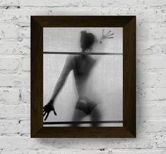 fashion poster, sensual art, girl wall art, woman print, nude photo, black and white photography, wall art prints, instant digital download di AlemiPrints su Etsy