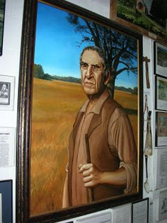 """Beausoleil Broussard"", a large oil painting hanging at the Acadian Museum in Erath, La. I did this painting while working for Robert Dafford, so it is signed ""Dafford Murals"" instead of ""Herb Roe"", but don't be fooled - it is a 100% my work."