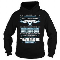 THEATER TEACHER T Shirts, Hoodies. Check price ==► https://www.sunfrog.com/LifeStyle/THEATER-TEACHER-91820248-Black-Hoodie.html?41382 $38.95