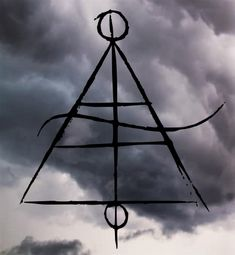 """borboranoir: """"Air Sigil Air on earth is made out of 78.1% Nitrogen, 20.9% Oxygen and less than 1% is occupied by many other gases. This sigil combines the alchemy symbol for air and Dalton´s chemical symbol for Nitrogen. """""""
