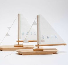 Wooden Sailboats by Pi'lo
