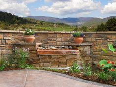 Here is an example of Coronado Stone's Country Rubble stone veneer being used on a wall that blends...