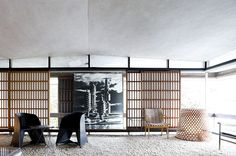 The Metabolist Sky House by Kiyonori Kikutake (1928-2011) designed and built for himself in 1958.