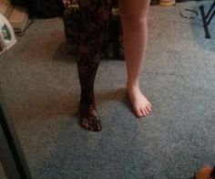 This is just a simple tutorial on how to turn tights, which are frustrating and fall down, into thigh high stockings