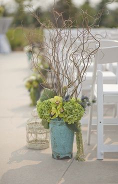 ceremony decoration maybe with baby's breath