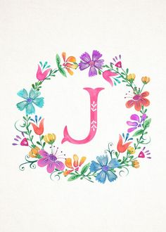 TCM-Floral-Wreath-Monograms-5x7-J.jpg (1500×2100)