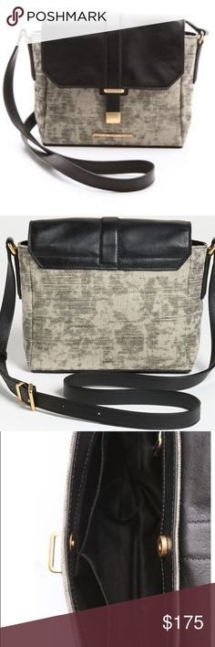 Marc by Marc Jacobs Distressed Mini Messenger Marc by Marc Jacobs  Natural Selection Distressed Mini Messenger  A mottled wash lends time-worn appeal to a small canvas handbag from Marc by Marc Jacobs, while gleaming hardware and smooth leather trim offer a polished contrast. The adjustable strap can be worn over the shoulder or cross-body, and the top opens to a lined interior with 3 pockets.  Weight: 15oz / 0.42kg. Imported, China.  MEASUREMENTS Height: 7in / 18cm Length: 9in / 23cm Depth…