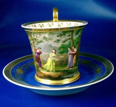 Royal Vienna ~ Scenic cup and saucer