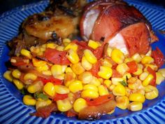 Make and share this Corn and Stewed Tomatoes recipe from Food.com.
