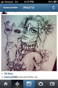 Amazing artwork for a tattoo by Edward Miller!!