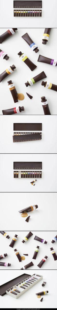 Nendo: Chocolate paint | Design / Ayao Yamazaki / GENIOUS!