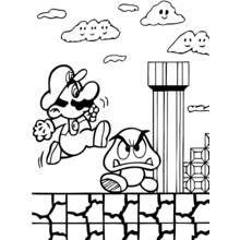 Coloring Page Mario Bros Video Games 53