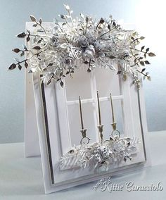 Inspired Silver and White Window Garland
