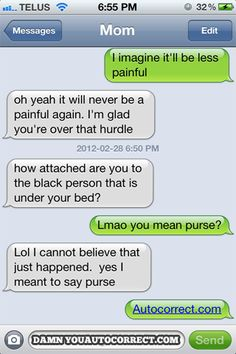 Autocorrect fail Purse — funny sayings and jokes - Funny Sms, Funny Text Messages, Funny Texts, The Funny, Funny Jokes, Mom Texts, Epic Texts, Autocorrect Funny, Funny Images