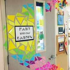Art Room Door! #elementaryartteacher