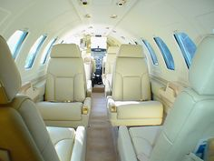 This is the interior of a Citation II Jet, wouldn't you like to fly in one of these? www.privatejetcharter.com/contact