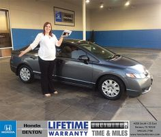 Congratulations to Makayla  Amoth on your #Honda #Civic purchase from Darrell  Cooper  at Honda of Denton! #NewCar