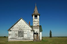 Abandoned church in North Dakota.  Prairie that you can see forever.    photo by John Piepkorn