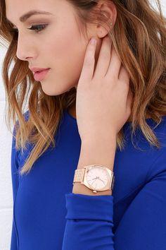 Nixon Time Teller Rose Gold Watch at Lulus.com!