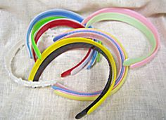 Vintage Plastic Headbands. The little combs inside the bands always felt imbedded in my head!