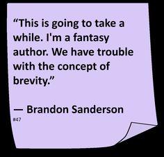 ♥ Brandon Sanderson ♥ ~ #Quote #Author #Hilarious