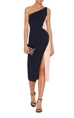 3765687ef5 Cushnie Et Ochs One Shoulder Color Blocked Cocktail Dress Cocktail Dress  Classy Elegant