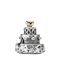 PANDORA Celebration Cake 14K & Silver Charm is on Rue. Shop it now.