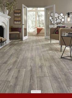 Modern floor Laminate - Restoration Wide Plank x x Oak Laminate Flooring in Flame. Laminate Flooring Colors, Hardwood Floor Colors, Vinyl Plank Flooring, Wood Laminate, Flooring Ideas, Oak Flooring, Maple Flooring, Kitchen Laminate Flooring, Gray Hardwood Floors
