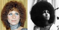 1979 Barbra Streisand. Perming allowed European hair to be tightly curled and from the mid-'70s to the end of the decade, the Afro was worn by various people (men and women) including the famous e.g. Barbra Streisand and Bette Midler.