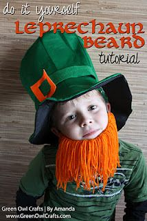 st. patrick's day craft-Yarn Beard @Melissa Gilbert ha ha we should make this for the babies!