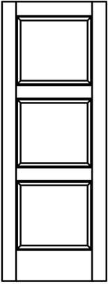 line-drawing-3-raised-wood-panel-contemporary | Woodport Doors