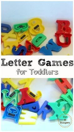 Four really great letter games for Toddlers.  Fun and educational!