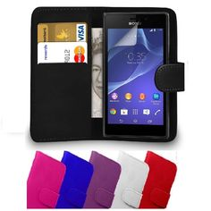 Accessories For Sony  Xperia M2 Flip Leather Wallet Case Cover