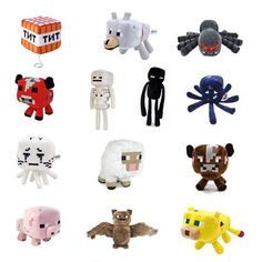 $5.82 - Cool Minecraft Toys Soft Stuffed Doll Cartoon Animal Plush Toy Brinquedos Children Kids Gift Free Shipping - Buy it Now!
