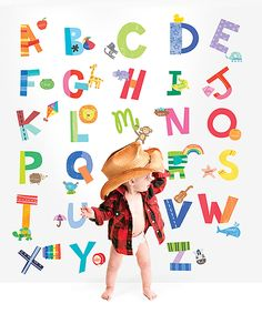 Take a look at this Alphabet Fun Wall Play Decal Set today! #ad
