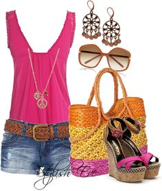 Find images and videos about outfit, clothes and outing on We Heart It - the app to get lost in what you love. Cute Summer Outfits, Summer Wear, Short Outfits, Pretty Outfits, Spring Summer Fashion, Spring Outfits, Casual Outfits, Fashion Outfits, Summer Clothes