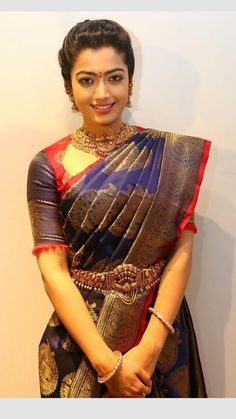 Exclusive Saree Blouse designs for every South Indian Bride!- Eventila Tired of scrolling through a bunch of pages to find that perfect blouse designs? Check out the top most South Indian blouse designs to pair with a kanjeevaram saree- Eventila Half Saree Designs, Pattu Saree Blouse Designs, Fancy Blouse Designs, Bridal Blouse Designs, Lehenga Blouse, Lehenga Choli, Blouse Back Neck Designs, South Indian Blouse Designs, Sari Bluse