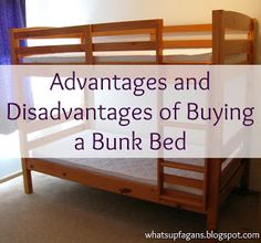 Pros and Cons of Buying a Bunk Bed - good stuff to think about!